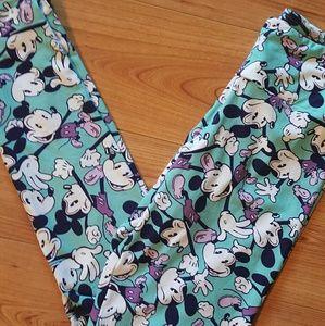 Lularoe mickey mouse os leggings